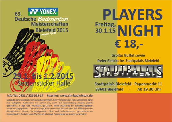 Players Party 2015