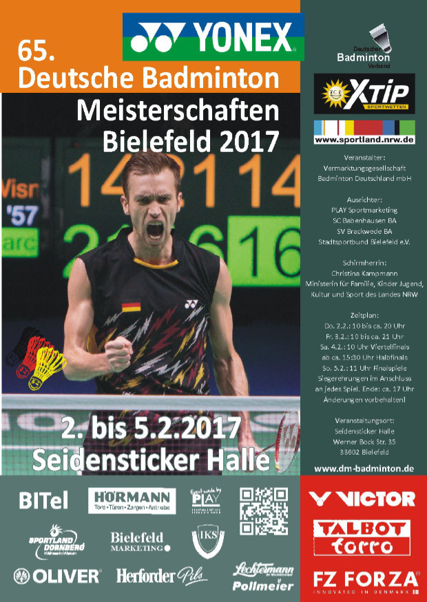 flyer 2017 zeitplan deutsche badminton meisterschaft. Black Bedroom Furniture Sets. Home Design Ideas