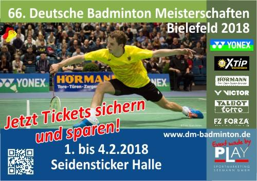 Badminton DM 2018 - Tickets mit Rabatt